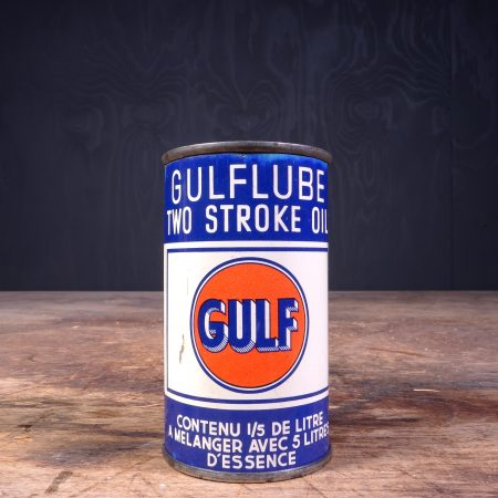 1940 Gulf Two Stroke Motor Oil Can