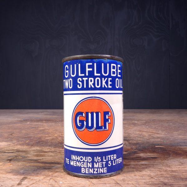 1940 Gulf Two Stroke Motor Oil Can