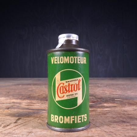 1940 Castrol Velomoteur Bromfiets Motor Oil Can