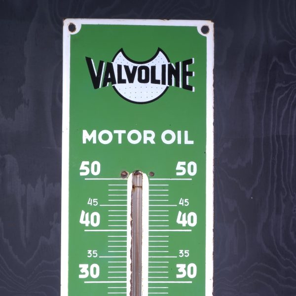 1951 Valvoline Thermomether Enamel Sign