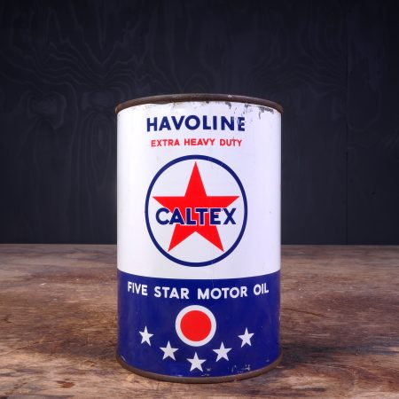 1950 Caltex Havoline Motor Oil Can
