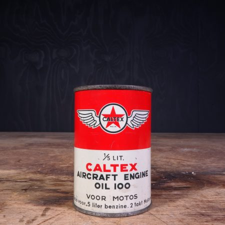 1950 Caltex Aircraft Engine 100 Oil Can