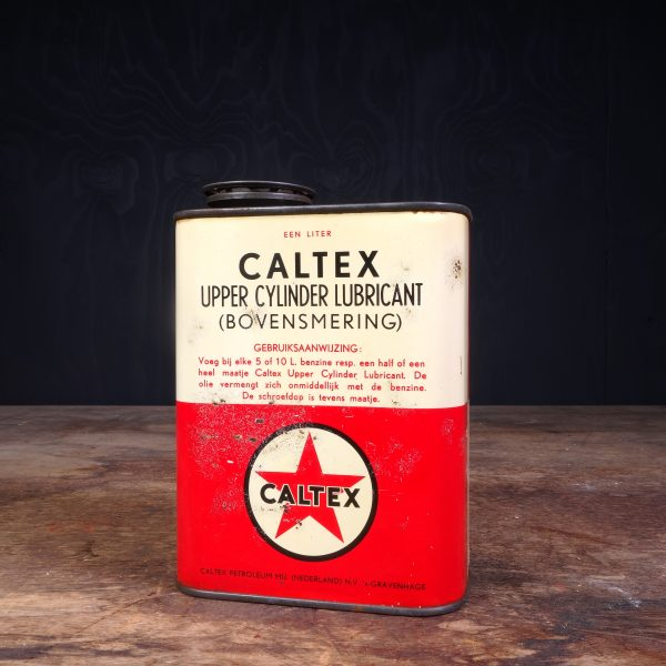 1950 Caltex Upper Cylinder Lubricant Oil Can