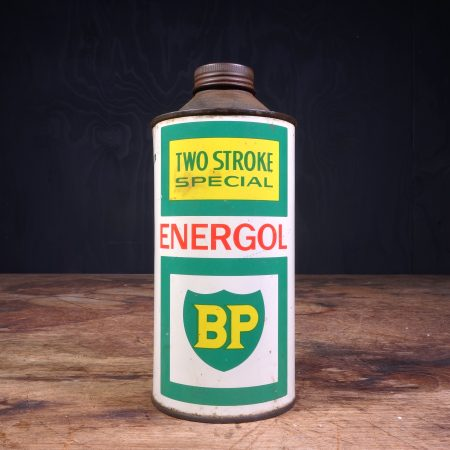 1960 BP Energol Two Stroke Special oil can