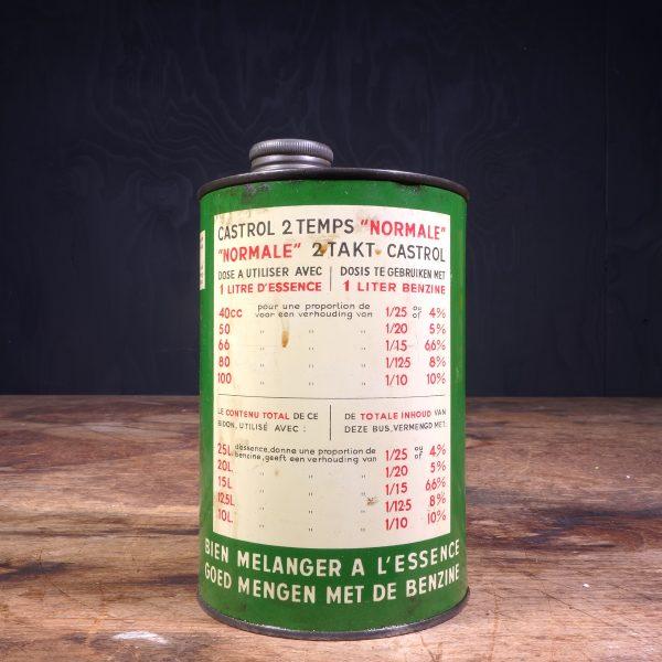 1950 Castrol Deux Temps 2 Takt Oil Can