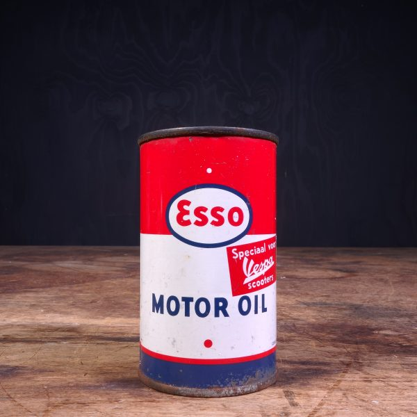 1950 Esso Motor Oil Vespa Oil Can