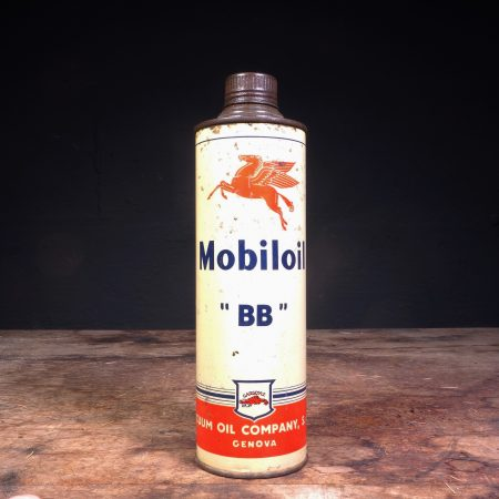1940 Mobiloil BB Motor Oil Can