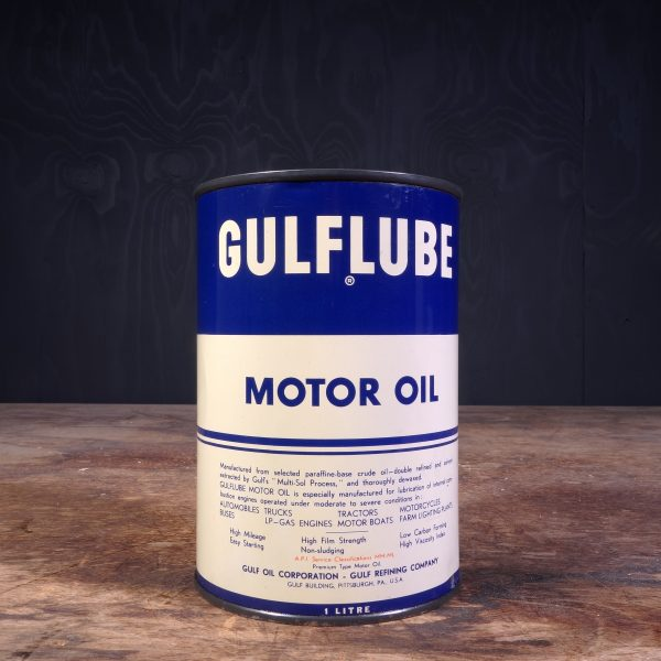 1950 Gulf Gulflube Motor Oil Can