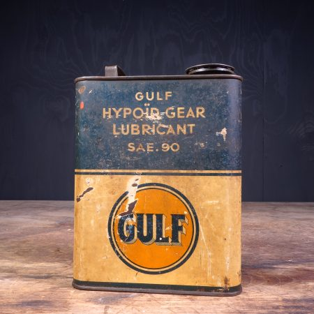 1940 Gulf Hypoid Gear Lubricant Motor Oil Can