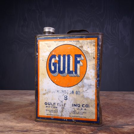 1940 Gulf Motor Oil Can