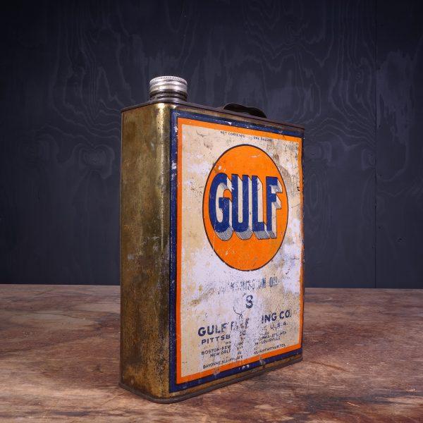 1940 Gulf Motor Oil Can