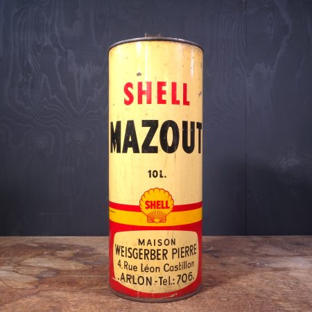 1950 Shell Mazout Oil can