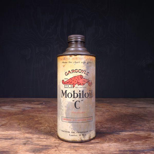 1930 Gargoyle Mobiloil C Motor Oil Can