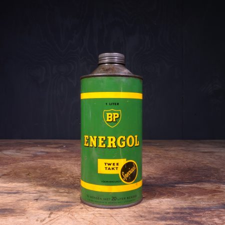 1950 BP Energol Deux Temps Special oil can