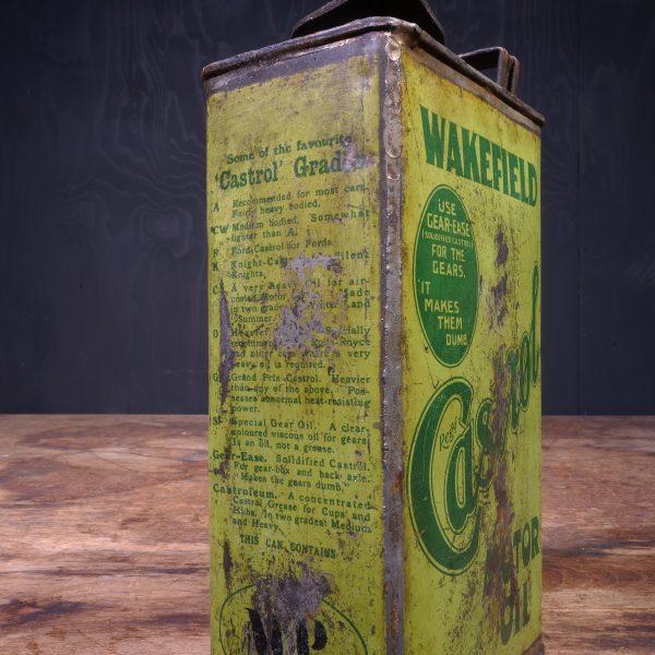 1920 Castrol Wakefield Motor Oil Can
