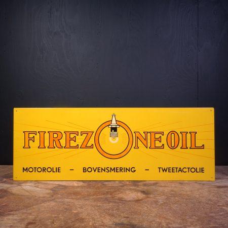 1960 Firezone Motor Oil Sign