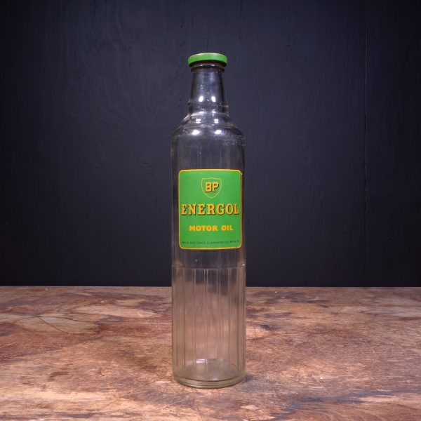 1940 BP Energol Motor Oil Bottle
