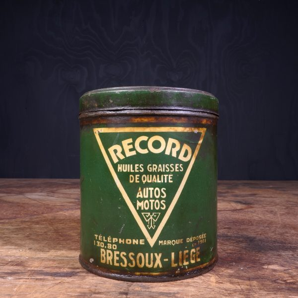 1930 Record Grease Can