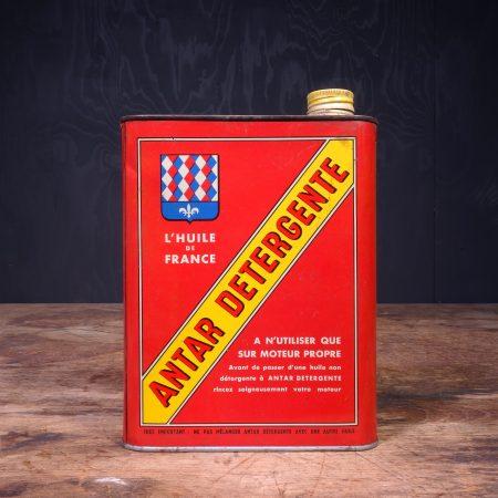 1950 Antar Detergente Motor Oil Can