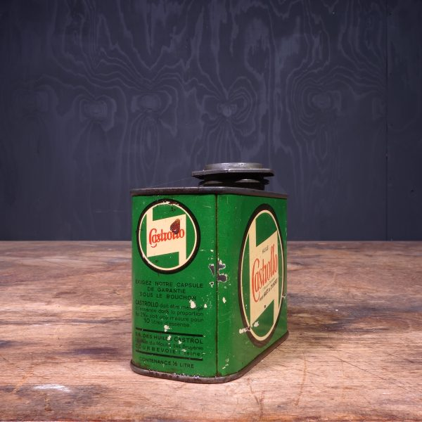 1940 Castrol Huile Castrollo Motor Oil Can