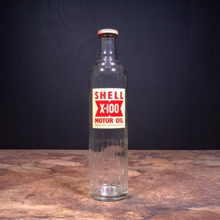 1950 Shell X-100 Motor Oil Bottle