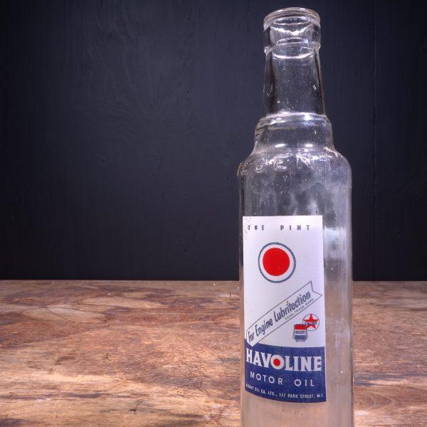1950 Havoline Motor Oil Bottle
