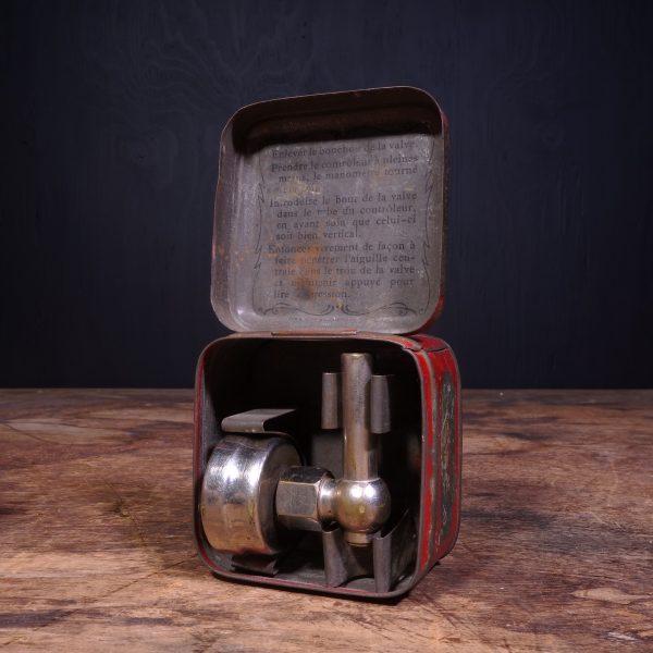 1900 Michelin Tire Pressure Gauge Tin