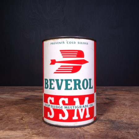 1950 Beverol SSM Motor Oil Can