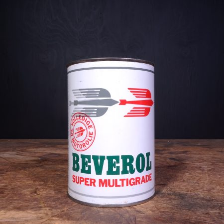 1950 Beverol Super Multigade Motor Oil Can