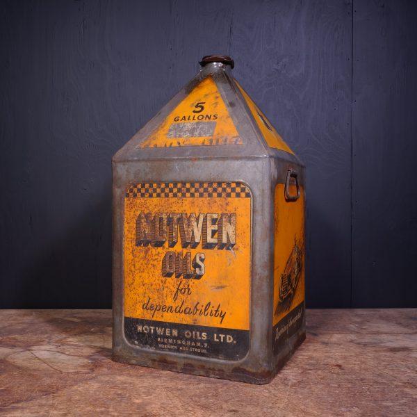 1930 Notwen Oils Motor Oil Can