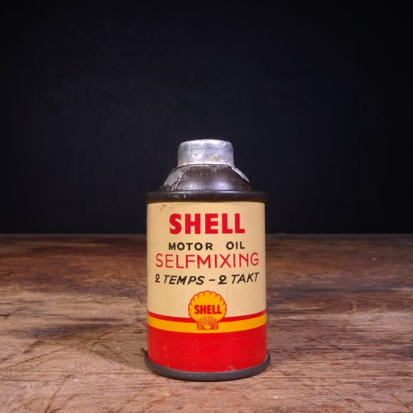 1950 Shell Motor Oil Selfmixing Oil Can