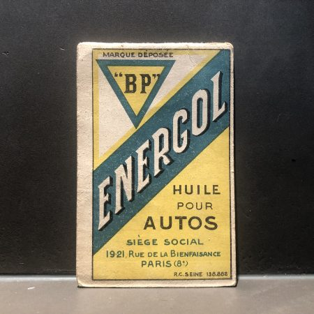 1930 BP Energol Notebook