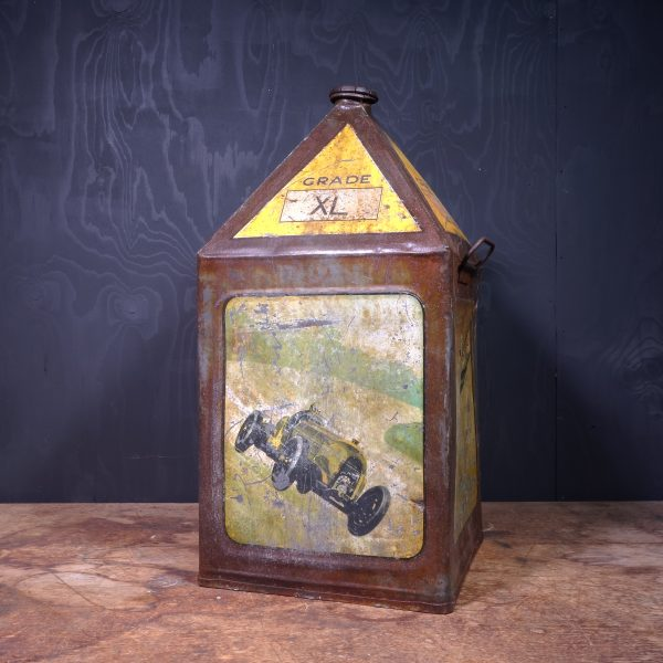 1930 Gamages XL Motor Oil can