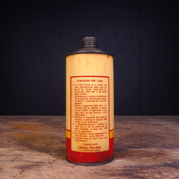 1950 Shell Donax U Valve Lubricant Motor Oil Can