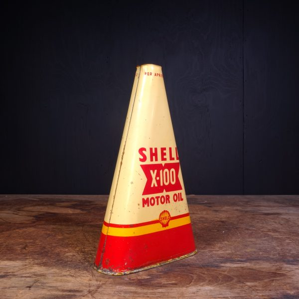 1940 Shell X-100 Motor Oil Can