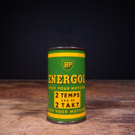 1950 BP Energol Deux Temps 2 Takt Oil Can