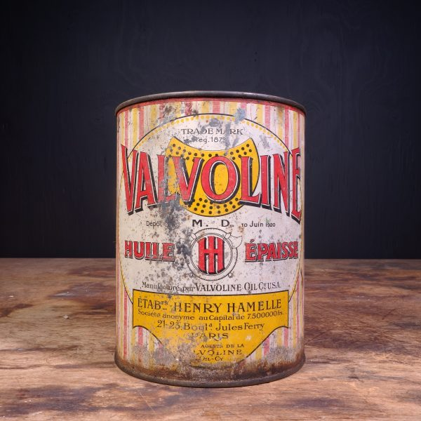 1930 Valvoline Huile Epaisse Grease Can