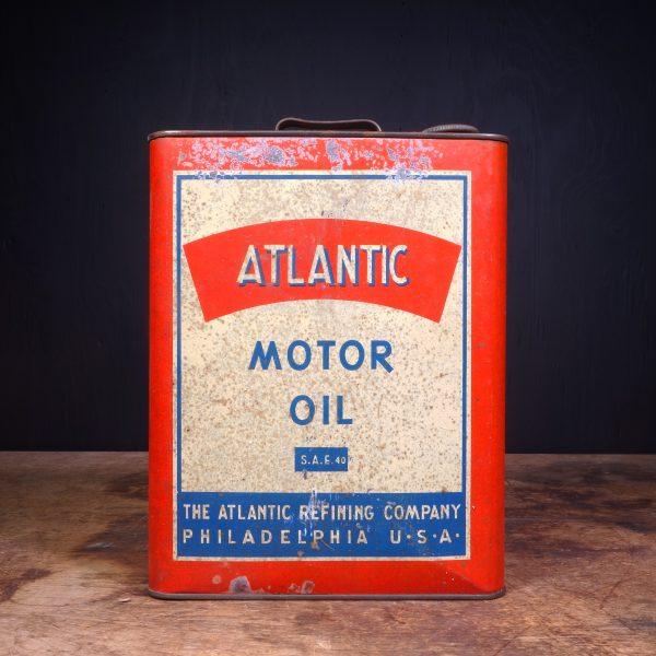 1940 Atlantic Motor Oil Can