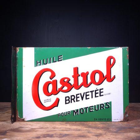 1930 Castrol Huile Pour Moteurs Flange Sign