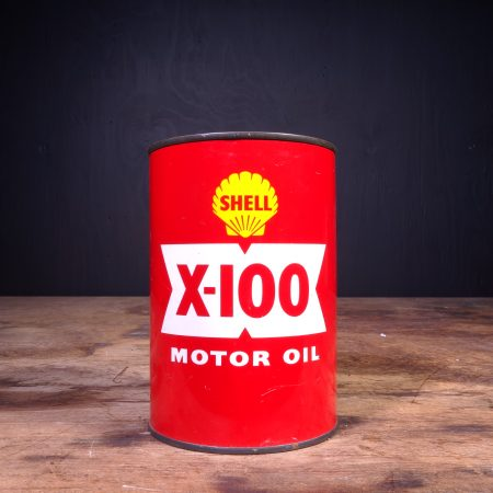 1950 Shell X-100 Motor Oil Can