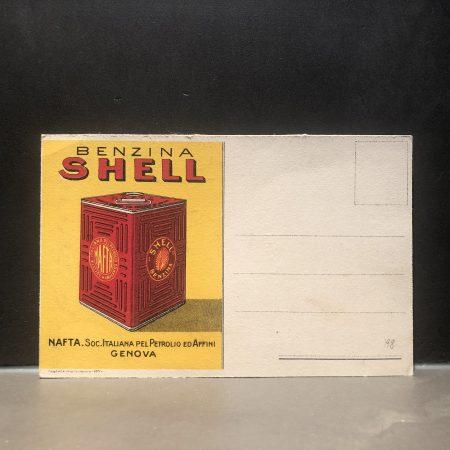 1920 Shell Benzina Postcard
