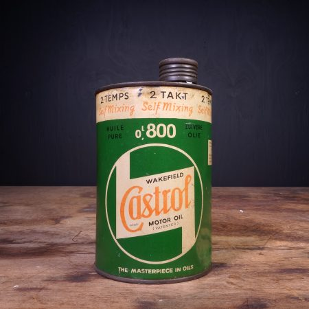 1940 Castrol Motor Oil 2 Temps 2 Takt Oil Can