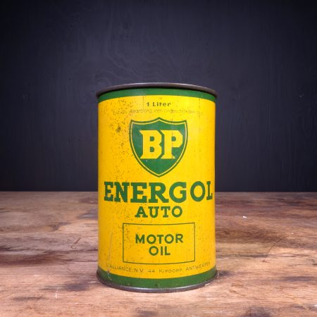 1940 BP Energol Auto Motor Oil Can