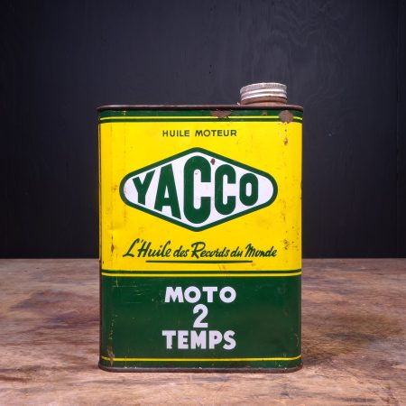 1950 Yacco Moto 2 Temps Motor Oil Can