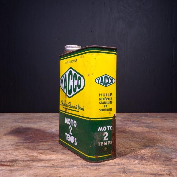 1950 Yacco Moto 2 Temps Motor Oil Can