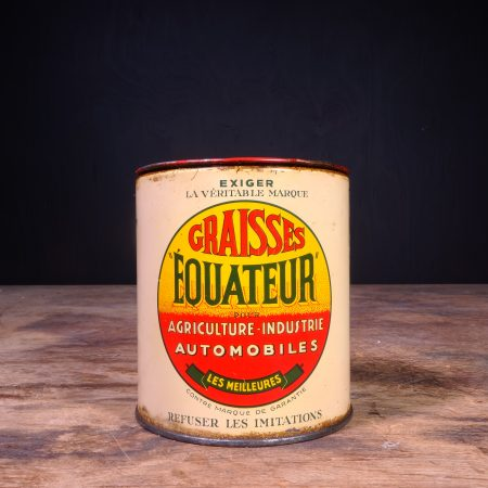 1920 Equateur Graisses Grease Can
