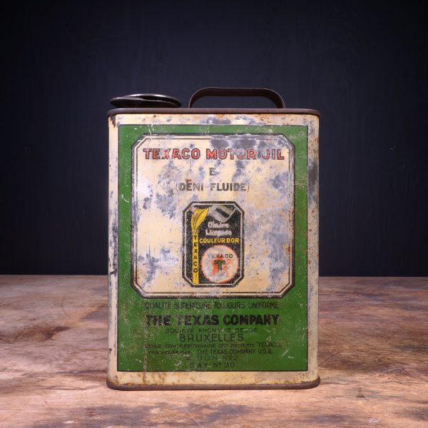 1930 Texaco E Motor Oil Can