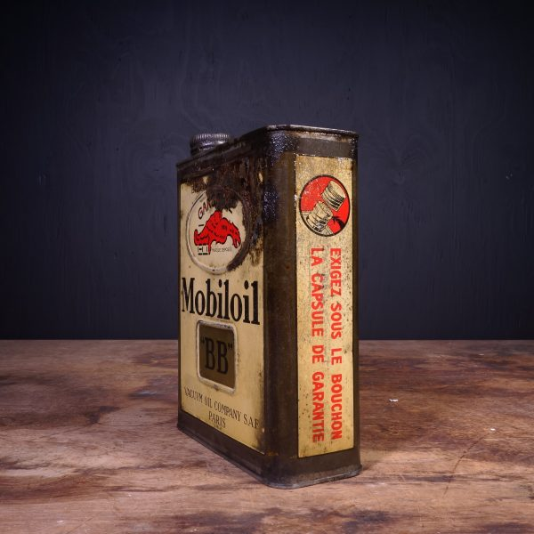 1930 Gargoyle Mobiloil BB Motor Oil Can