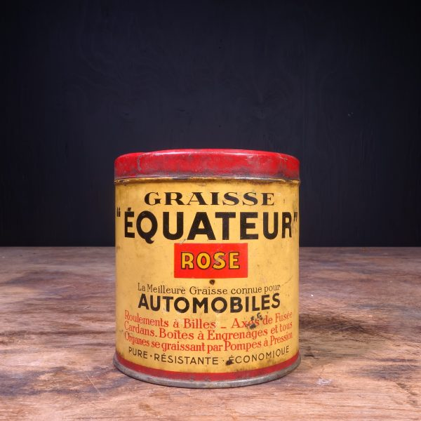 1930 Equateur Graisse Grease Can