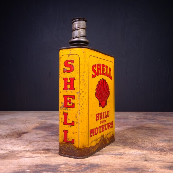 1930 Shell Huile Pour Moteurs Motor Oil Can